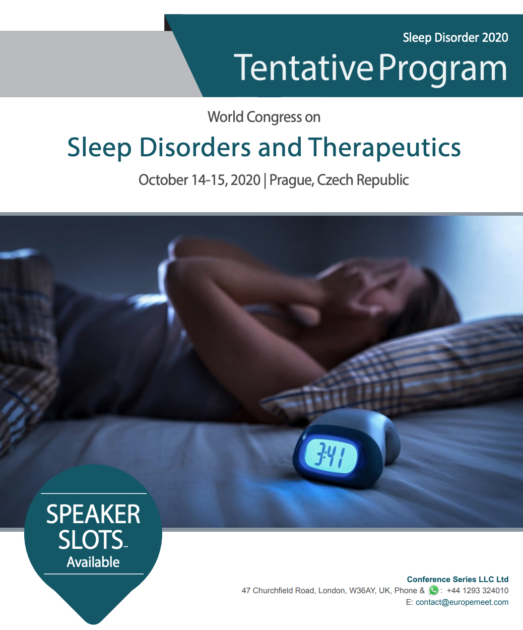 World Congress on Sleep Disorders and Therapeutics, Prague, Czech Republic